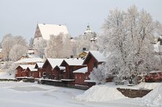 Visit Porvoo is a city to fall in love with. The idyllic Old Porvoo steals your heart and the shops, cafés and restaurants treats all your senses. Finland Travel, Christmas Town, Back Home, Winter Wonderland, Cathedral, Germany, Landscape, Country, City