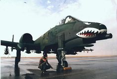 """""""Home of the Flying Tigers"""" I took this picture of my Crew Cheif during Desert Storm."""