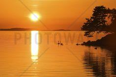 Sunrise Lake - Lærred - Photowall