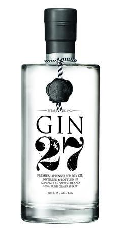 Appenzeller GIN 27 | #packaging #bottledesign #gin