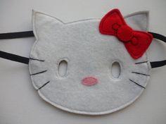 Felt Hello Kitty mask for dressing up/costume/fancy dress