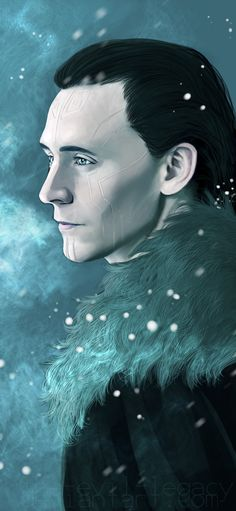 Jotunheim by the-evil-legacy on deviantART No red eyes like usual frost giants but I think it makes him look more regal or maybe its just the furs...