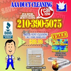 Clean Dryer Vent, Hvac Repair, Vent Cleaning, Wall Insulation, Daily Deals, San Antonio, Facebook, Image, Free