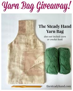 Yarn Bag Giveaway ... runs through midnight EST on 6/4/15 | www.petalstopicots.com | #crochet #knit #giveaway