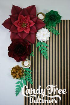 Fondo de flores de papel oro / papel flor por CandyTreeBaltimore