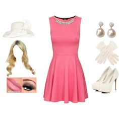 42ef3e46df7 A fashion look from September 2014 featuring pink dress