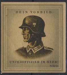 Unteroffizier im Heer (NCOs in the Army), Dein Vorbild (your role model) Feldpost propaganda vignette