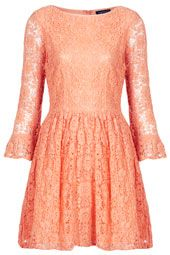 Topshop Crochet Lace Flippy Dress