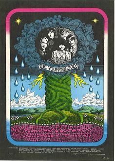 The Youngbloods, Ace of Cups, John Bauer's Rocking Cloud at Avalon Ballroom, SF. Art by Charles Laurens Heald, 1968 Psychedelic Art, Concert Posters, Music Posters, Hippie Posters, Band Posters, Dog Poster, Tour Posters, Vintage Horror, Family Dogs