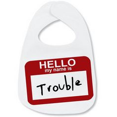 Bib: Trouble from Vinyl Expressions for $6.00 on Square Market