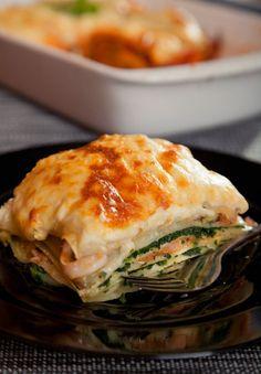 Lososové lazane - Recept pre každého kuchára, množstvo receptov pre pečenie a varenie. Recepty pre chutný život. Slovenské jedlá a medzinárodná kuchyňa