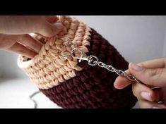 "Сумка ""Розовое суфле"" из трикотажной пряжи. Вязание крючком. Bag of knitting yarn. Crochet. - YouTube"