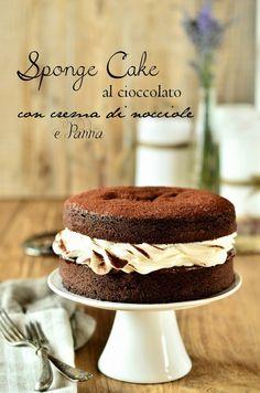 Cucina Scacciapensieri: Sponge cake al cioccolato con crema di nocciole e panna