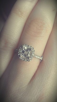 I Think This Is One Of My Favorite Styles Cushion Cut Asher Engagement Rings