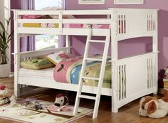 Furniture Of America,Full Bunk Bed Spring Creek Collection Cm-Bk603Wh For $445