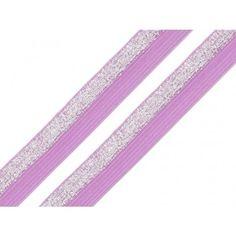 Schrägband elastisch 17 mm – lila Beauty, Lilac