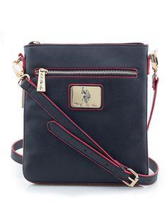1024adf16f37 U.s. polo assn. women s saffiano expandable cross body bag black bag