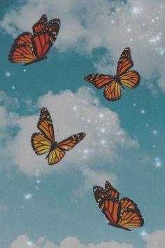 Butterfly Wallpaper Iphone, Bling Wallpaper, Iphone Background Wallpaper, Retro Wallpaper, Trendy Wallpaper, Pretty Wallpapers, Cartoon Wallpaper, Disney Wallpaper, Aesthetic Pastel Wallpaper