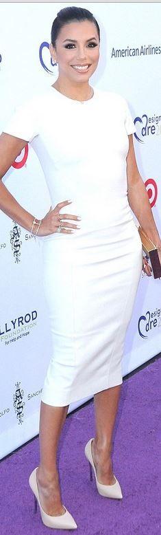Eva Longoria in Dress – Victoria Beckham  Shoes – Casadei