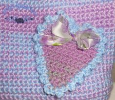 Pastel Hearts Classic Crochet Tote bag by kathyskrochetnook  Available for purchase!