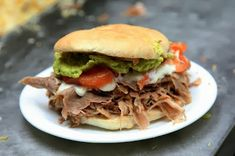 Chilean Lomito Sandwich. - We use pork roast in this recipe because it is very tender.