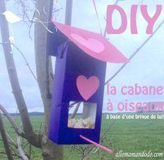 DIY: Une cabane à oiseau à base de brique de lait - Allo Maman Dodo