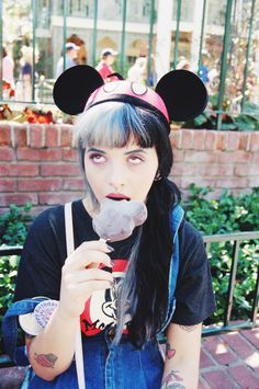 Mel enjoying a Mickey Mouse ice lolly... #RePin by AT Social Media Marketing…
