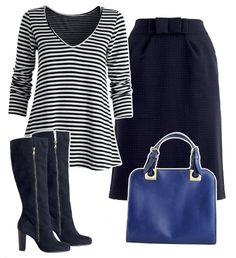 Complete Look - Pear shape - stripes and black