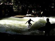 surfing a river in munich