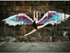 """These wings are part of artist Colette Miller's Global Angel Wings Project, which was created in 2012 to """"remind humanity that we are angels of this earth."""""""