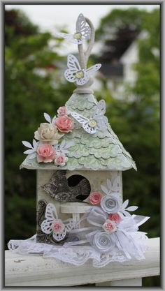 altered birdhouses | Altered Bird House, goes with the love bird ... | Altered Art Birdhou ...