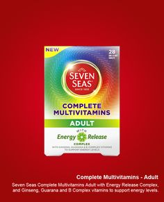 Complete Multivitamins Adult is tailored to help support your energy levels throughout the day!  http://www.seven-seas.com/products/complete-multivitamin-adult.htm