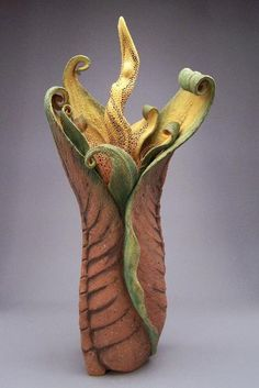 Denise Romecki Ceramic Sculpture  love the color palette & matt surfaces!