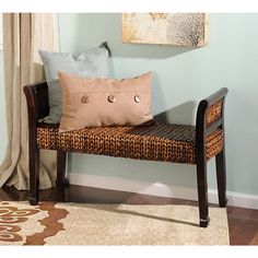 Elm & Banana Leaf Bench | Kirklands
