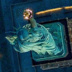 New York City Feelings - Bird's View of Lady Liberty by @barreradm1975 |...