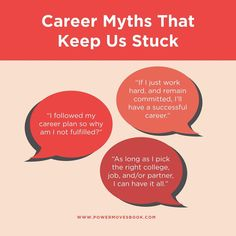 In her new book, Power Moves, Lauren McGoodwin writes about notorious career traps that keep people stuck from pursuing the career they want. Here are a few but we also want to hear from you—what narratives, expectations, or myths have ever kept you feeling stuck in your career? Share below! My Career, Career Advice, Feeling Stuck, How Are You Feeling, Finding A New Job, Career Planning, Career Development, New Books, Work Hard