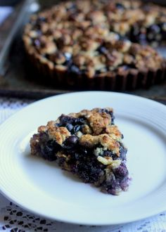 Blueberry Crisp Tart with Oatmeal Crust (GF)