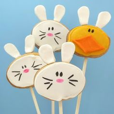 Bunny and Chick Cookie Pops