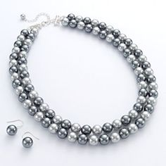 Comes in gray and regular pearl, what about something simple like this for bridesmaid jewelry?