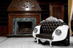 Mélange D'éléments baroques et Art Car: Glamour Beettle decodesign / Décoration