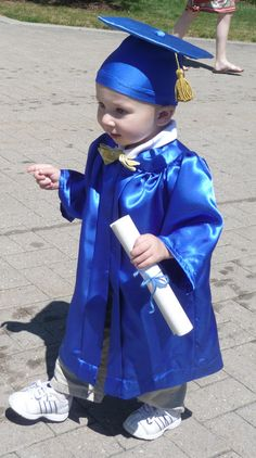 CUSTOM Baby and Toddler Graduation Cap and Gown/Robe by queenalene