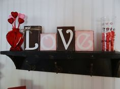 Love / Valentine's Day Decor / Love / by NicsLoveLetters on Etsy, $22.00