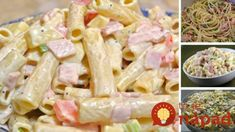 Salad with pasta and mayonnaise recipe - Heavenly Recipes Easy Cooking, Cooking Recipes, Healthy Recipes, Cooking Food, Ham And Cheese Pasta, Pasta Recipes, Salad Recipes, Mayonnaise Recipe, Fusilli