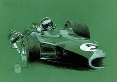 Jim Clark, Lotus 49, Zandvoort 67.