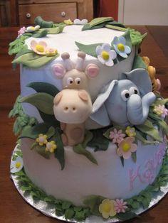 animal cake for baby.