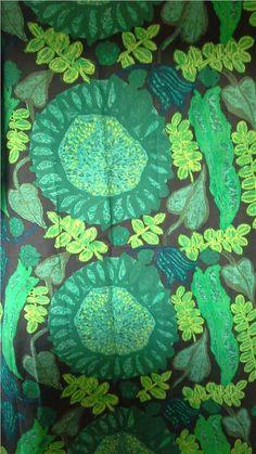 Vintage tyg, design Saini Salonen Tyget heter