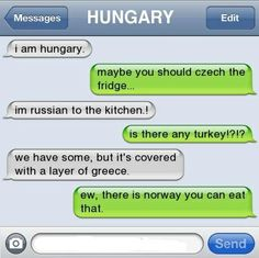 Ha! Country funnies.