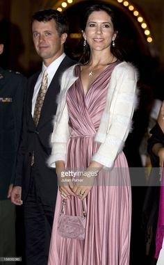 Crown Prince Frederik And Crown Princess Mary Of Denmark Attend A Concert At Tivoli Concert Hall To Celebrate The 350Th Anniversary Of The Royal Danish Life Guards In Denmark. (Photo by Julian Parker/UK Press via Getty Images)