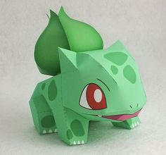 Papermau: Pokemon - Bulbasaur Paper Toy - by Ten Pepakura