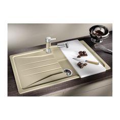 CHIUVETA DE BUCATARIE BLANCO SONA 5 S ALUMETALIC SILGRANIT REVERSIBILA INCORPORABILA - Iak Flatware, Tray, Kitchen, Cutlery Set, Cooking, Kitchens, Dishes, Trays, Cutlery